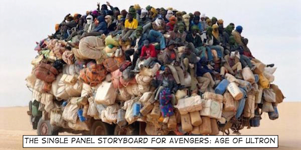 Storyboard for Age of Ultron